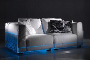 Led Lit Sofa